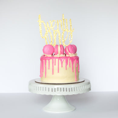 Twenty One Cake Topper - Glambanners - 1