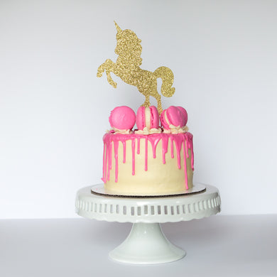 Unicorn (Long Hair) Cake Topper - Glambanners - 1