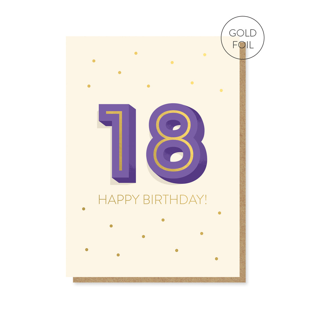 18th Milestone Birthday Card