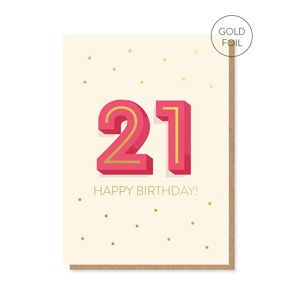 21st Milestone Birthday Card