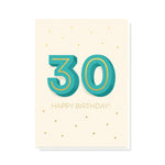 SAMPLE - Big 3-0 Card