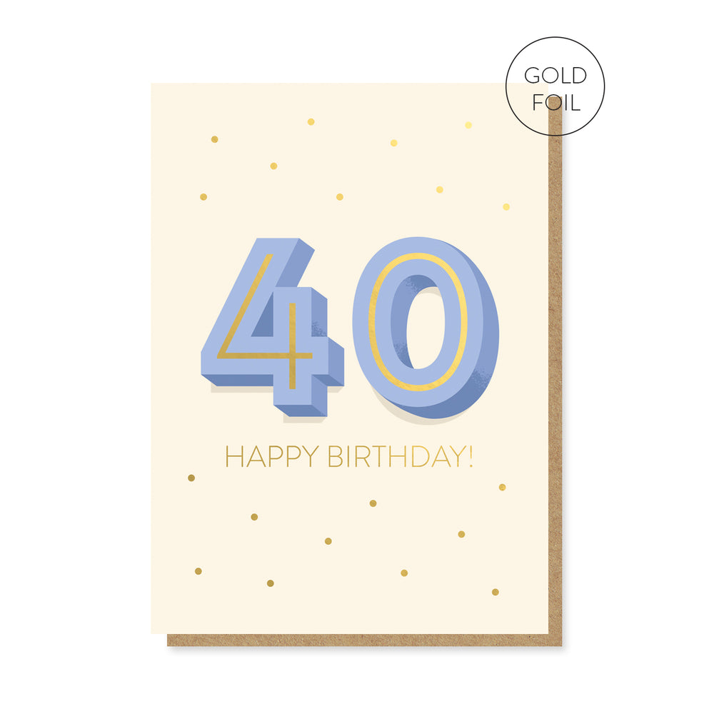 40th Milestone Birthday Card