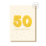 50th Milestone Birthday Card