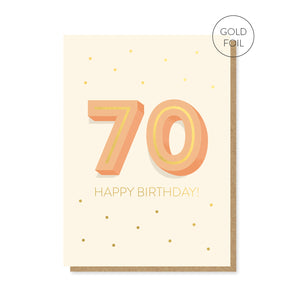 70th Milestone Birthday Card