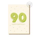 90th Milestone Birthday Card