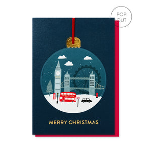 London Pop-out Bauble Card