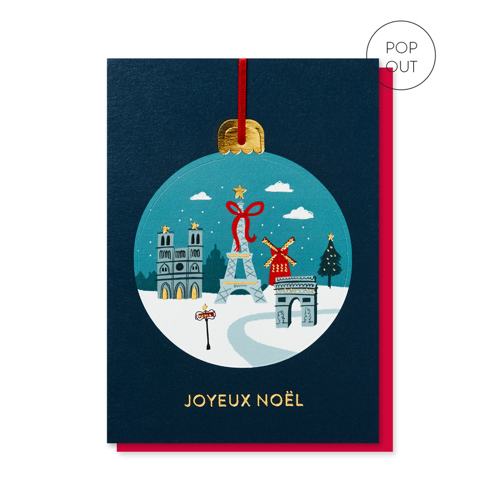 Paris Pop-out Bauble Card