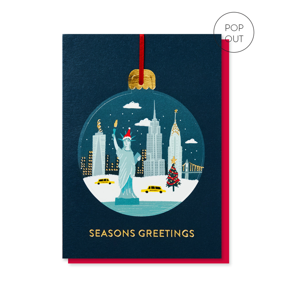Load image into Gallery viewer, New York Pop-out Bauble Card