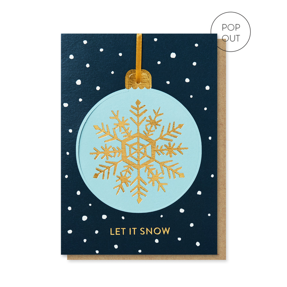 Let It Snow Pop-out Bauble Card