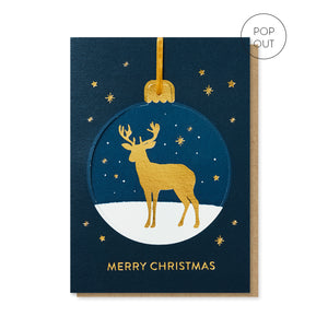 Reindeer Pop-out Bauble Card