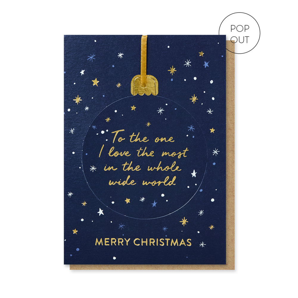 Load image into Gallery viewer, One I Love Pop-out Bauble Card