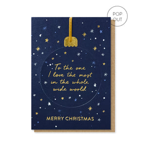 One I Love Pop-out Bauble Card