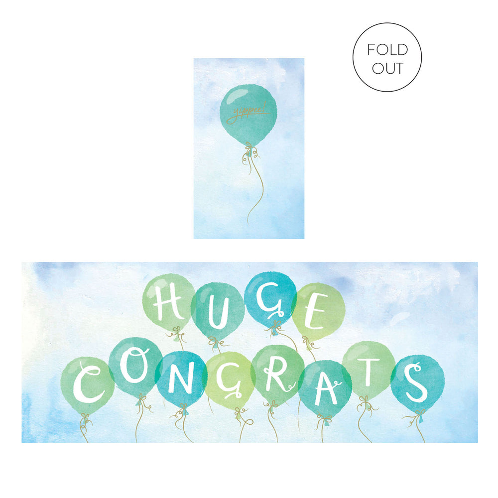 Huge Congrats Concertina Card