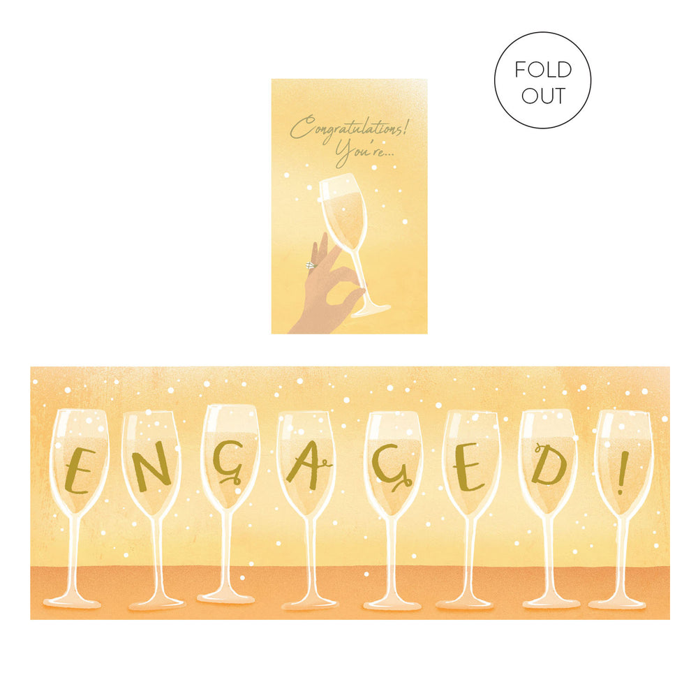 You're Engaged Concertina Card
