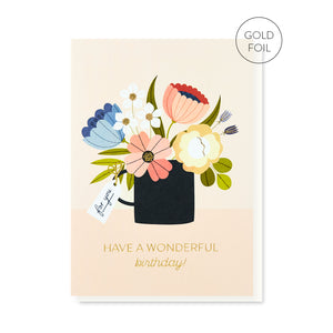 Load image into Gallery viewer, PB PRESSIES Birthday Bouquet Card