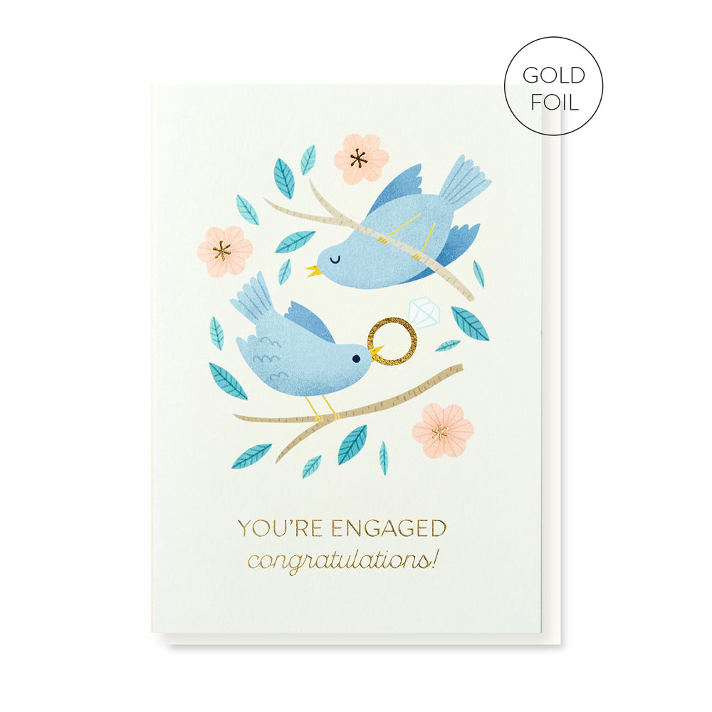 Engaged Birds Card