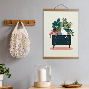 Load image into Gallery viewer, Cat on Dresser Print