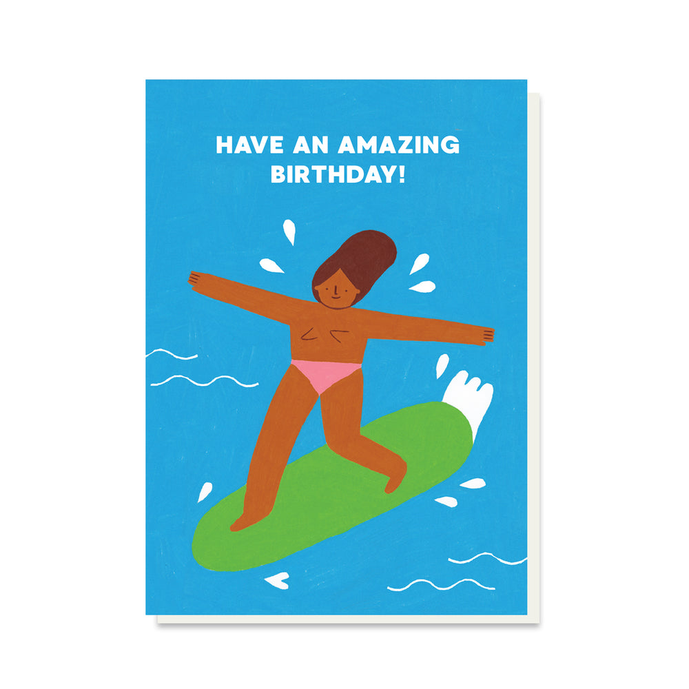 PB PRESSIES Surf's Up Birthday Card