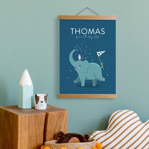 Load image into Gallery viewer, Personalised Elephant Name Print