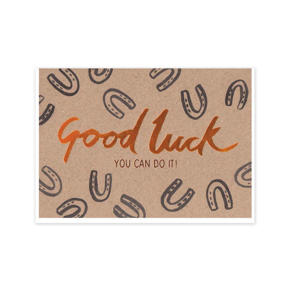 Load image into Gallery viewer, Copper Good Luck Card