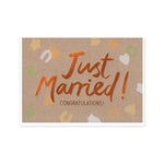 Copper Just Married Card