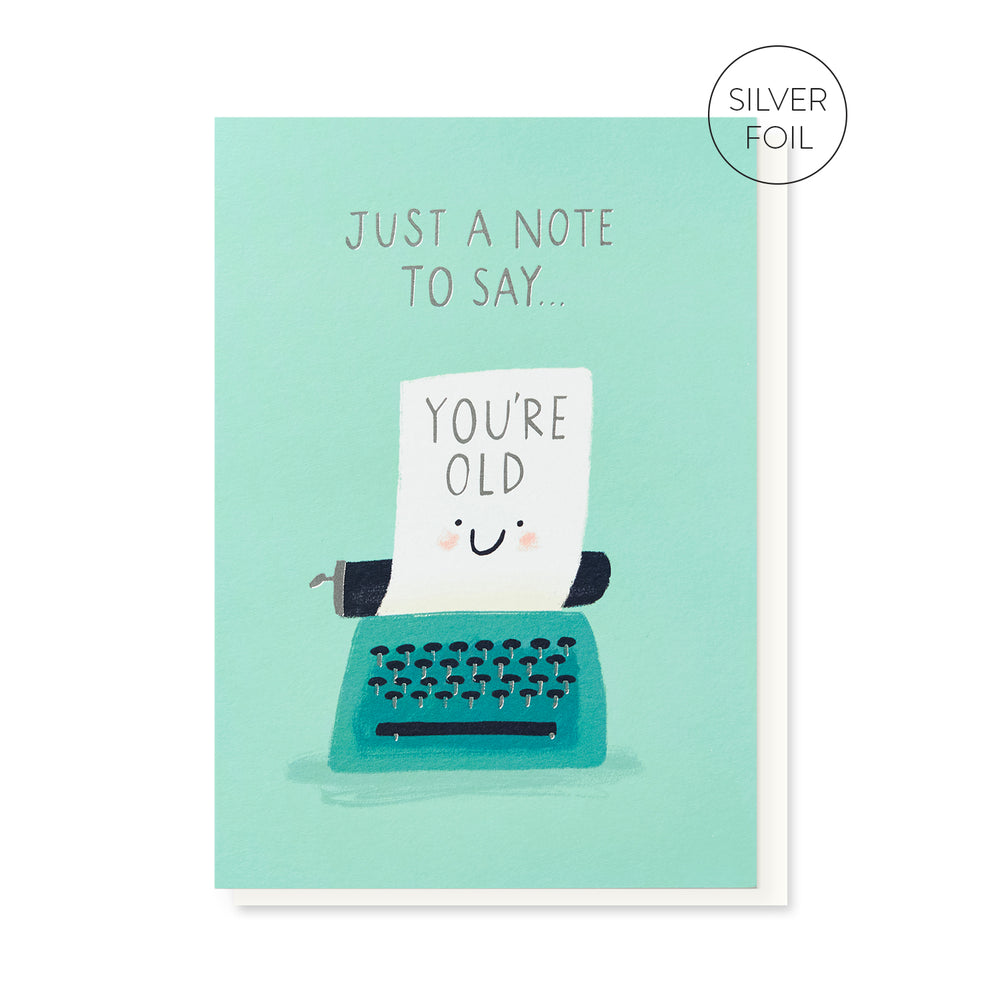 Old Typewriter Card