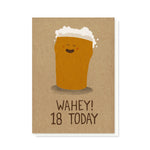 Wahey 18 Today Card
