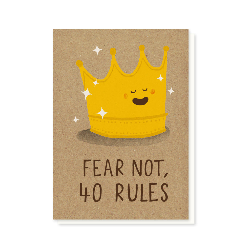 40 Rules Card
