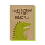 Old Dinosaur Card