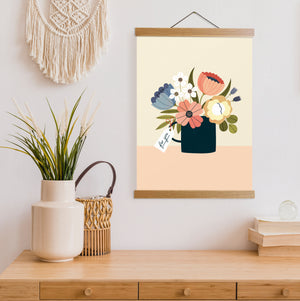 Peach Bouquet Print
