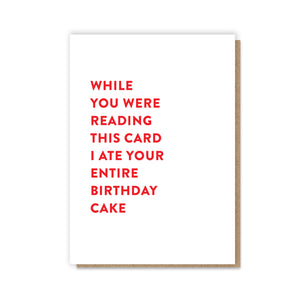 Entire Cake Card