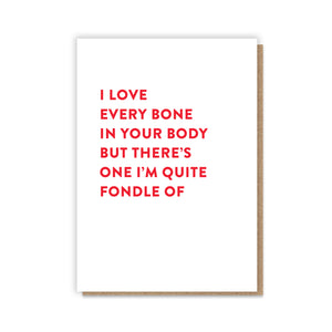 Fondle Bone Card