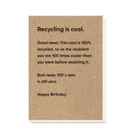 Recycling Is Cool Card
