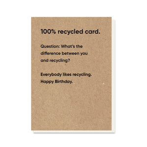 You & Recycling Card