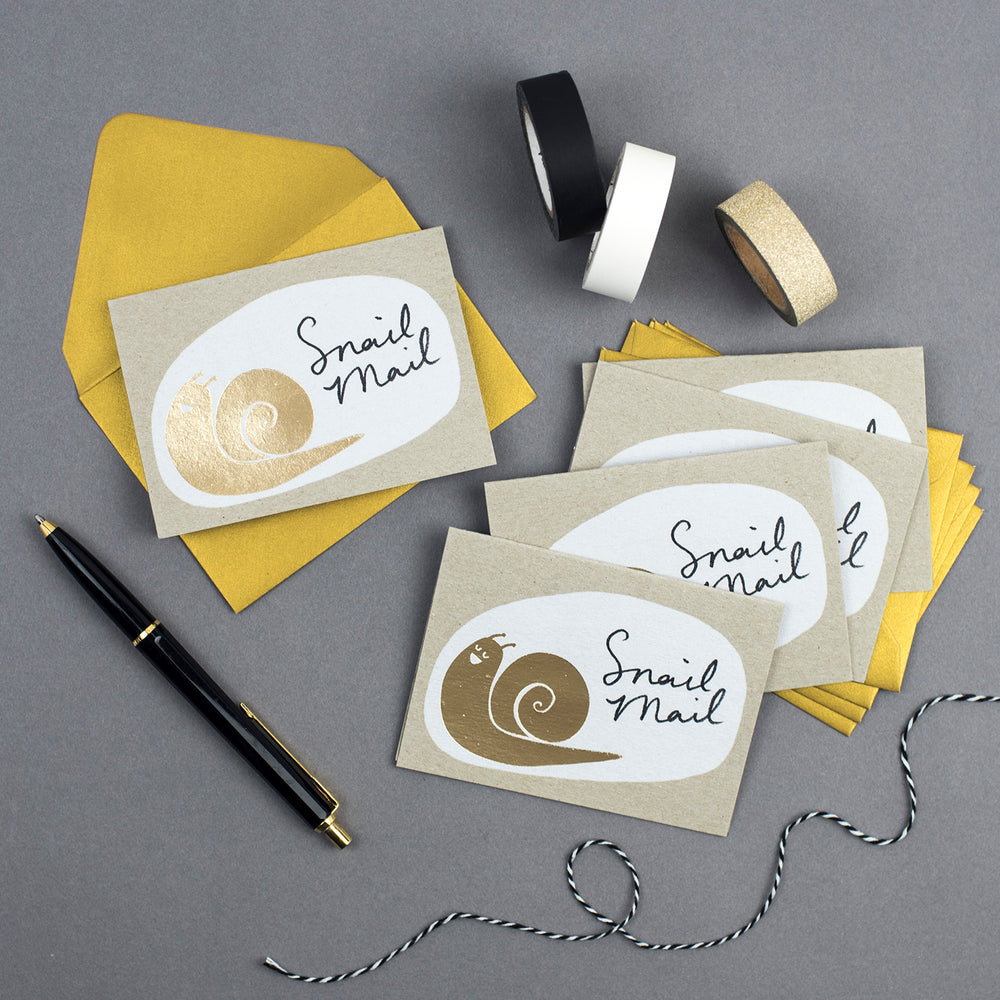 'Snail Mail' Mini notecards sets