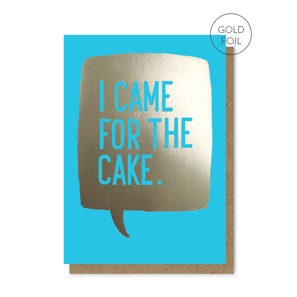 Load image into Gallery viewer, Blue Cake Card
