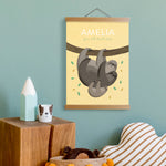 Personalised Sloth Name Print