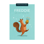 Personalised Squirrel Name Print