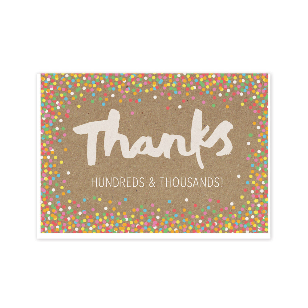 Thanks Hundreds and Thousands Card