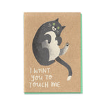 Touch Me Cat Card