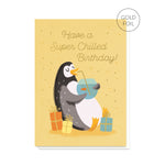Chilled Penguin Birthday Card