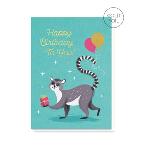 Lemur Birthday Card
