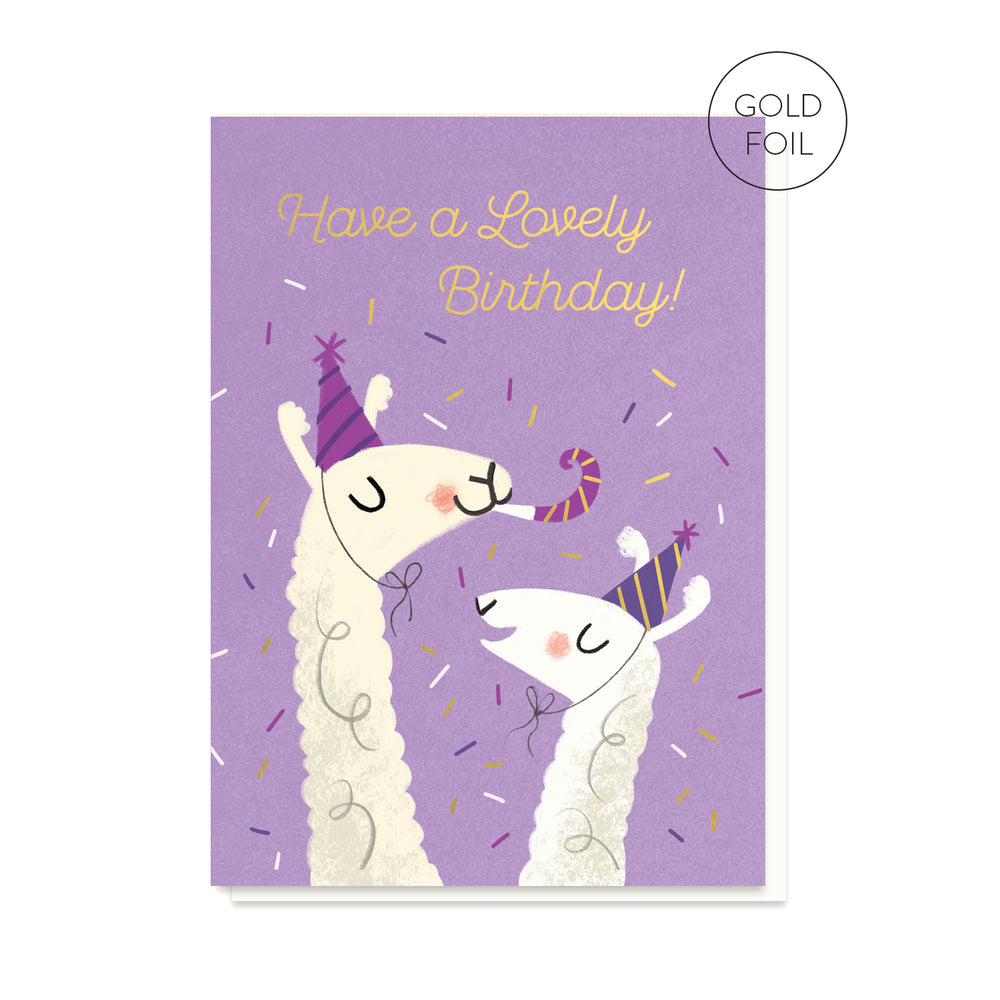 Lovely Llamas Birthday Card