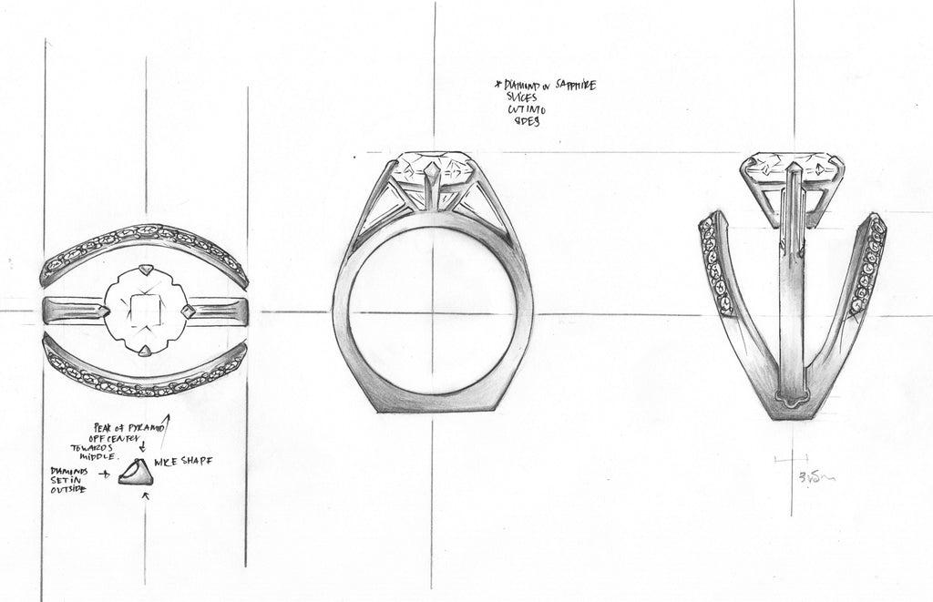 Sonia Engagement Ring Sketch