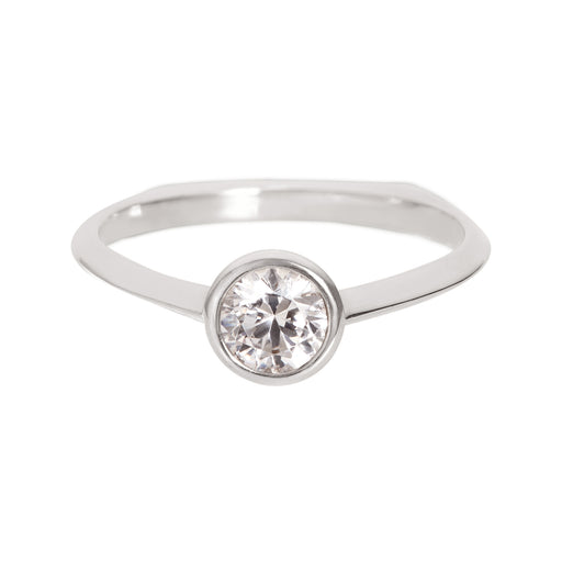 Bliss Lau  Acoustic Ring White Gold White Lab Grown Diamond