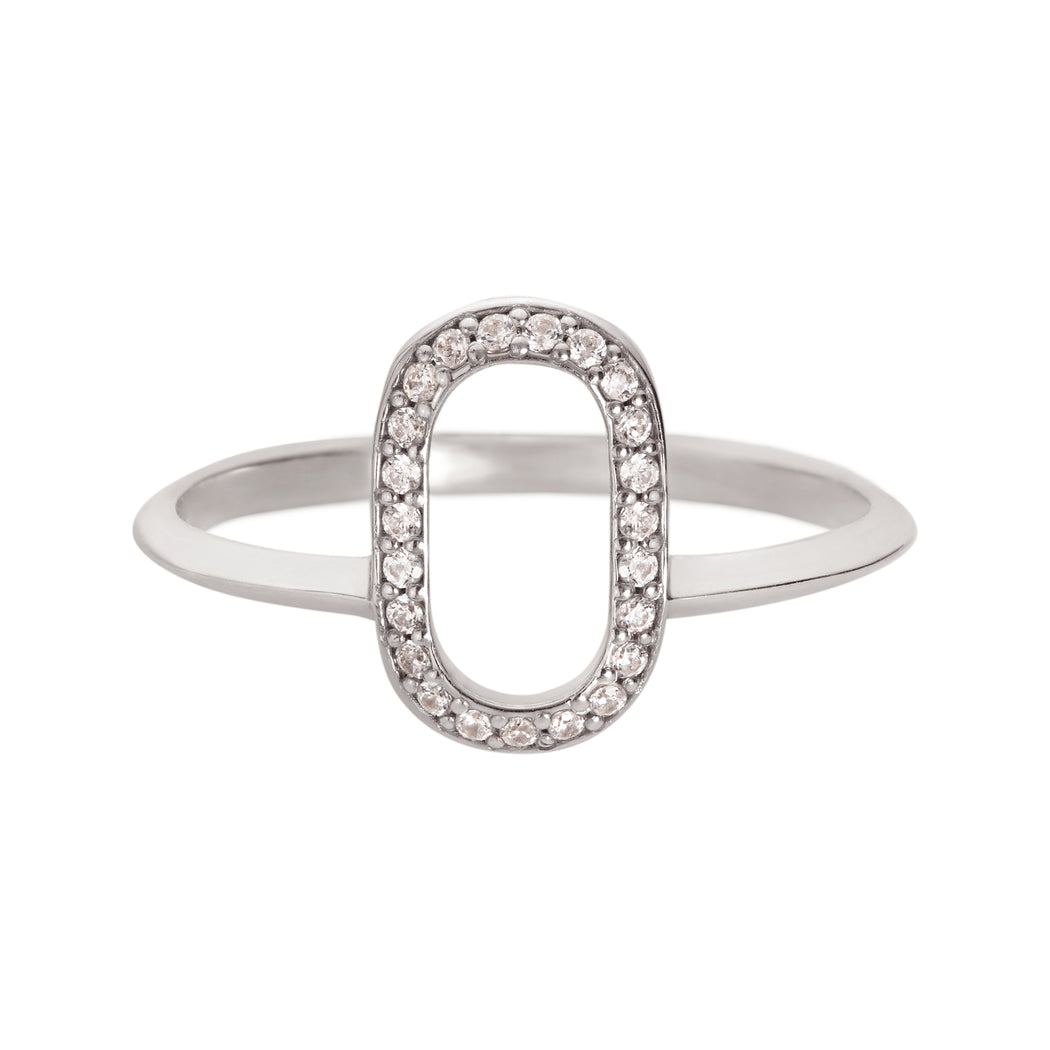 Acoustic + Oval Outline Ring Set