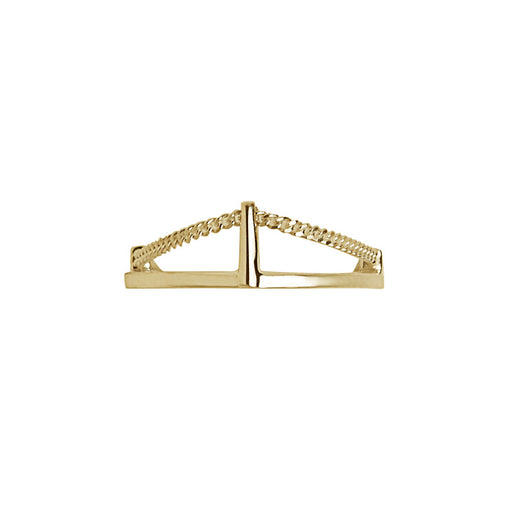 BLISS LAU CUSP PINKY RING YELLOW GOLD CHAIN