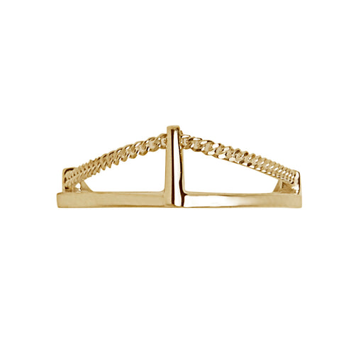 BLISS LAU CUSP RING YELLOW GOLD CHAIN