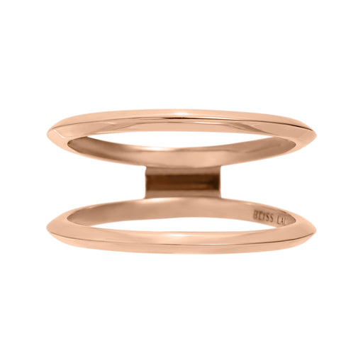 BLISS LAU EXPANSE ENCLOSE BAND KNIFE EDGE BAND ROSE GOLD