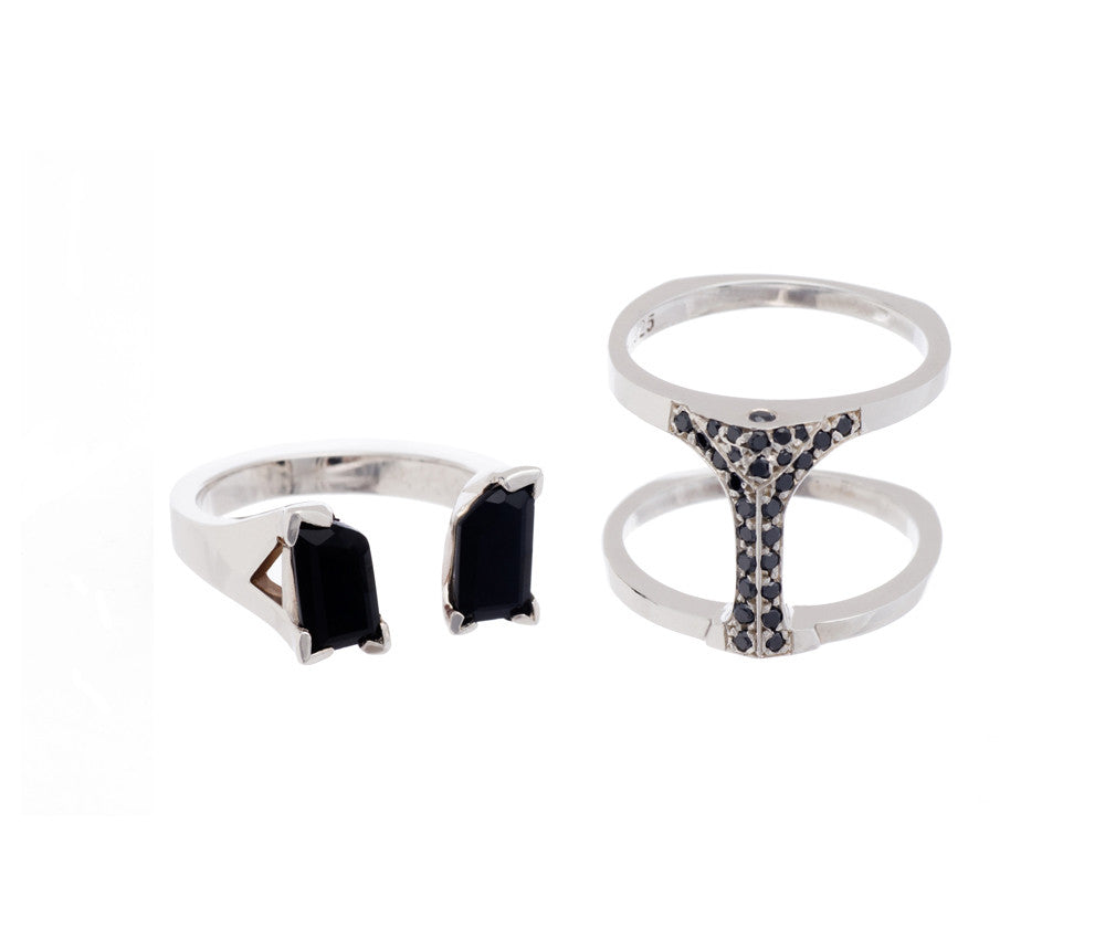 Fathom Ring Black Diamond Pave